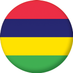 Mauritius Country Flag 58mm Button Badge